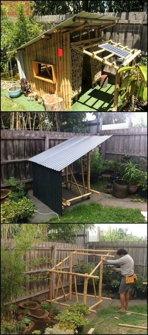 Bamboo cubby | Stunning Bamboo Craft Projects | FarmFoodFamily.com