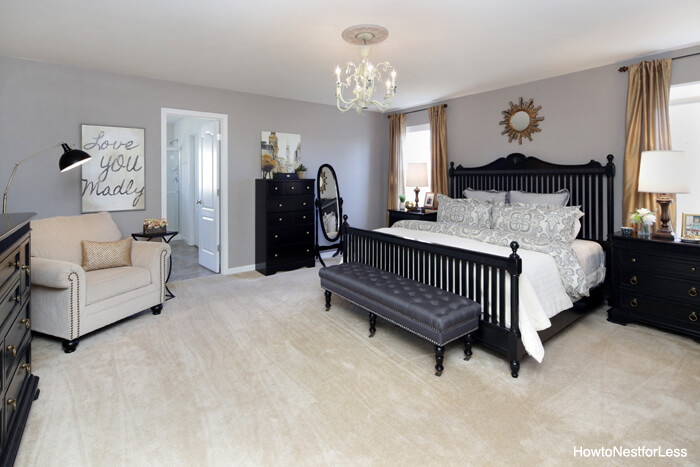 Gold And Gray Master Bedroom