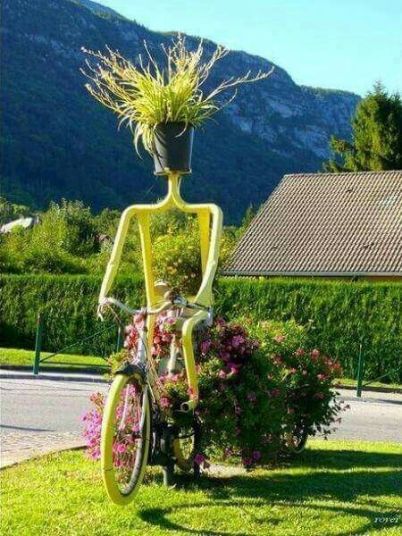 Tricycle Planter | Bicycle Garden Planter Ideas For Backyards | FarmFoodFamily
