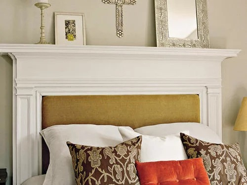 Turning a Fireplace Mantel into a Headboard | DIY Headboard Decoration Ideas for Bedroom