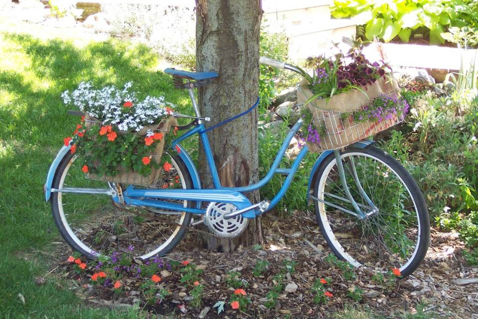 Bicycle Planter | Low-Budget DIY Garden Pots and Containers