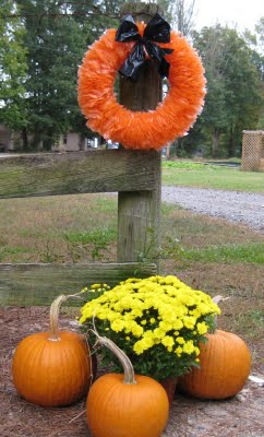 Recycle Halloween Wreath