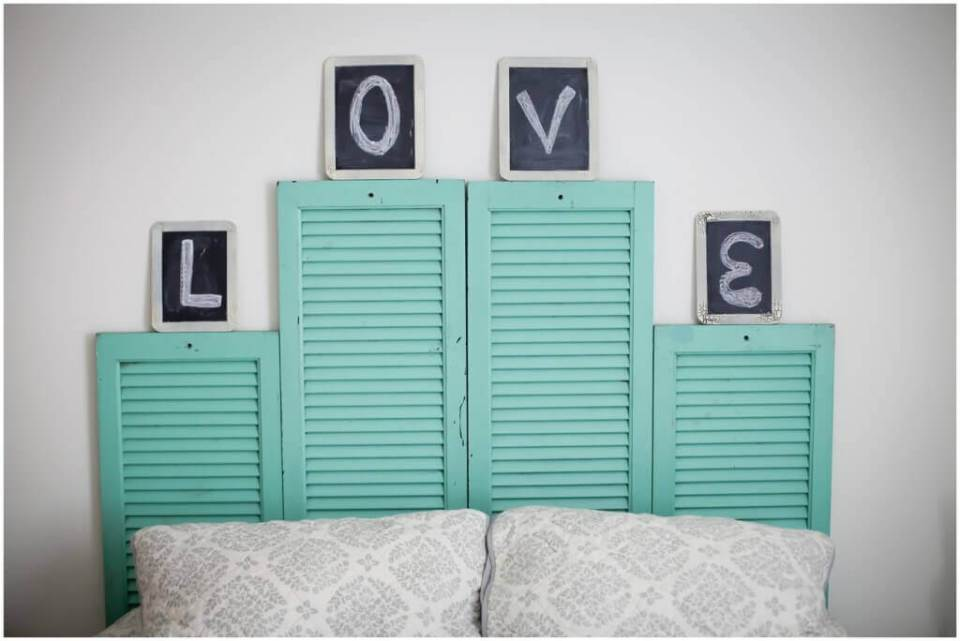 DIY Vintage Shutter Head Board | DIY Headboard Decoration Ideas for Bedroom