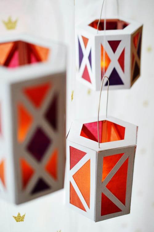 Cozy Paper DIY Lanterns | Creative DIY Garden Lantern Ideas - FarmFoodFamily.com