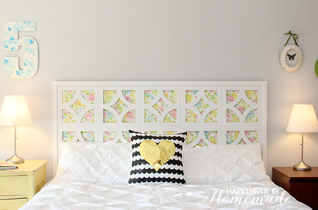 Vintage Sheet Headboard | DIY Headboard Decoration Ideas for Bedroom
