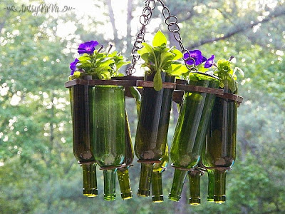 Wine Bottle Hanging Basket | Low-Budget DIY Garden Pots and Containers