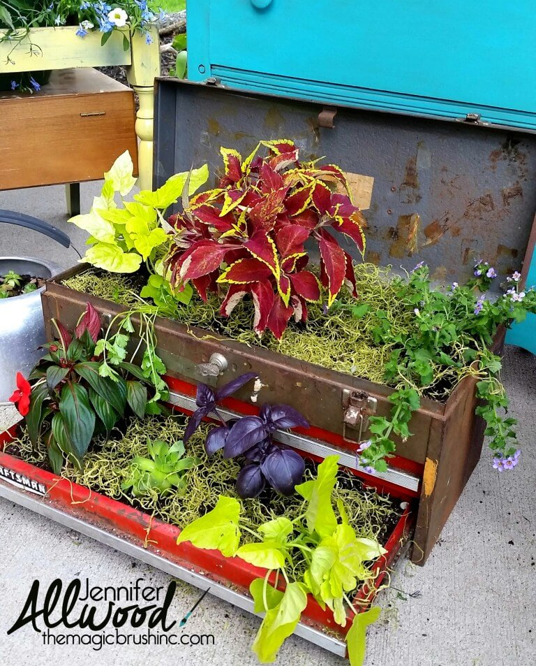 Unique Container Toolbox | Low-Budget DIY Garden Pots and Containers