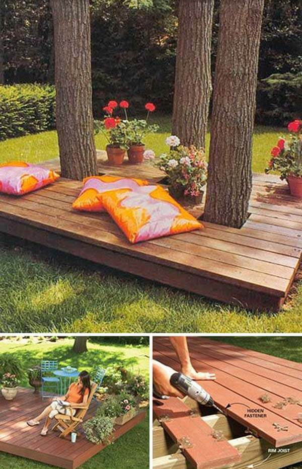 Fabulous DIY Floating Deck