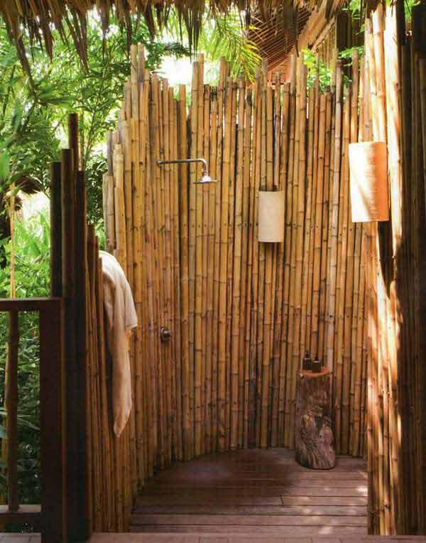 Privacy Screen | Stunning Bamboo Craft Projects | FarmFoodFamily.com