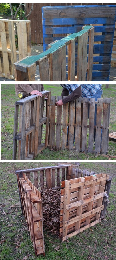 Compost Bin DIY: Quick Pallet Project | Easy Compost Bins You Can DIY On Very Low Budget - FarmFoodFamily.com