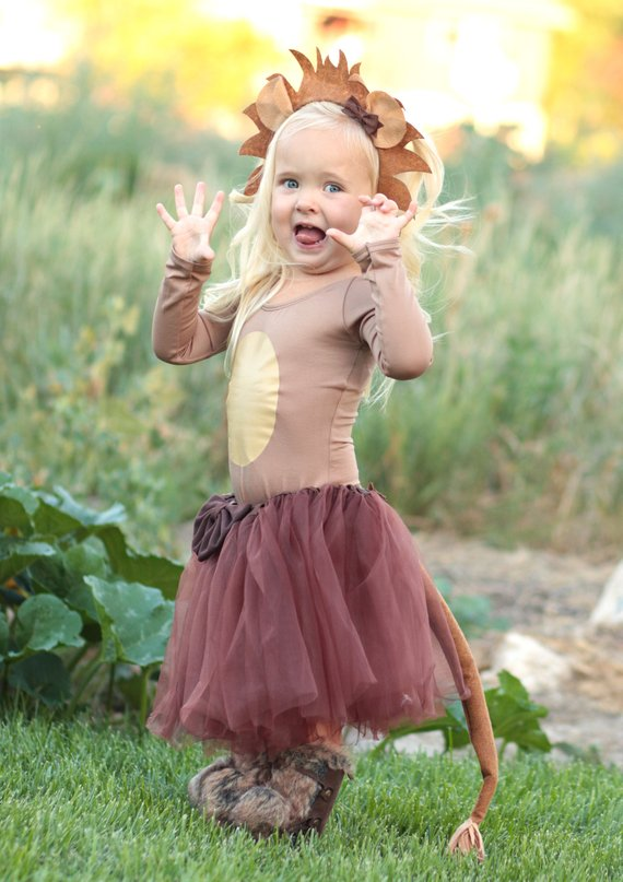 Lion Tutu Costume Girls Halloween Costumes | Animal Halloween Costumes for Kids, Adults - FarmFoodFamily.com