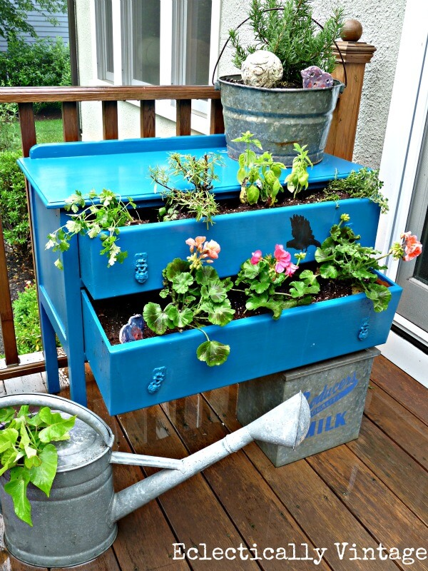 Dress Up Your Plan With An Old Dresser | Low-Budget DIY Garden Pots and Containers