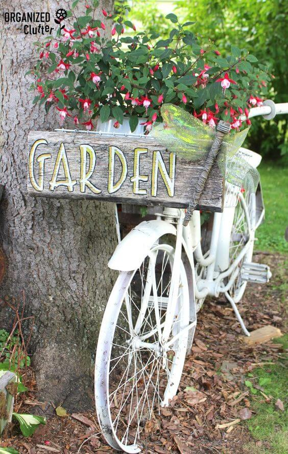 Junk Garden Tour | Bicycle Garden Planter Ideas For Backyards | FarmFoodFamily