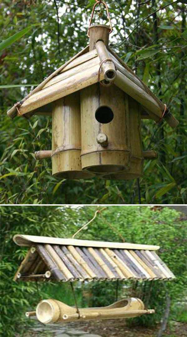 Bamboo Birdhouse | Stunning Bamboo Craft Projects | FarmFoodFamily.com