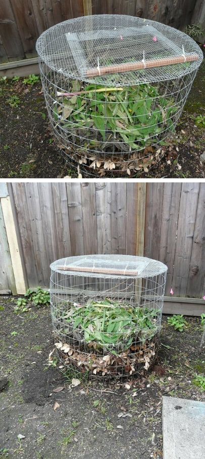 Compost Bin From Hardware Cloth | Easy Compost Bins You Can DIY On Very Low Budget - FarmFoodFamily.com