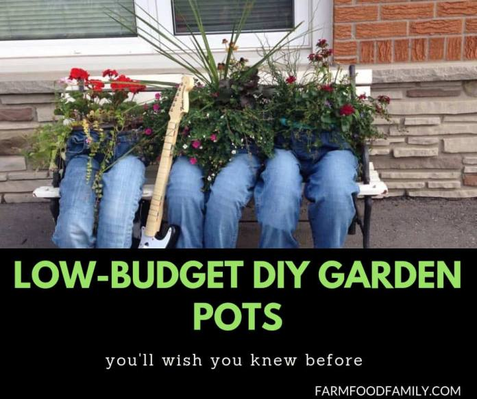 31 Low budget garden pot ideas