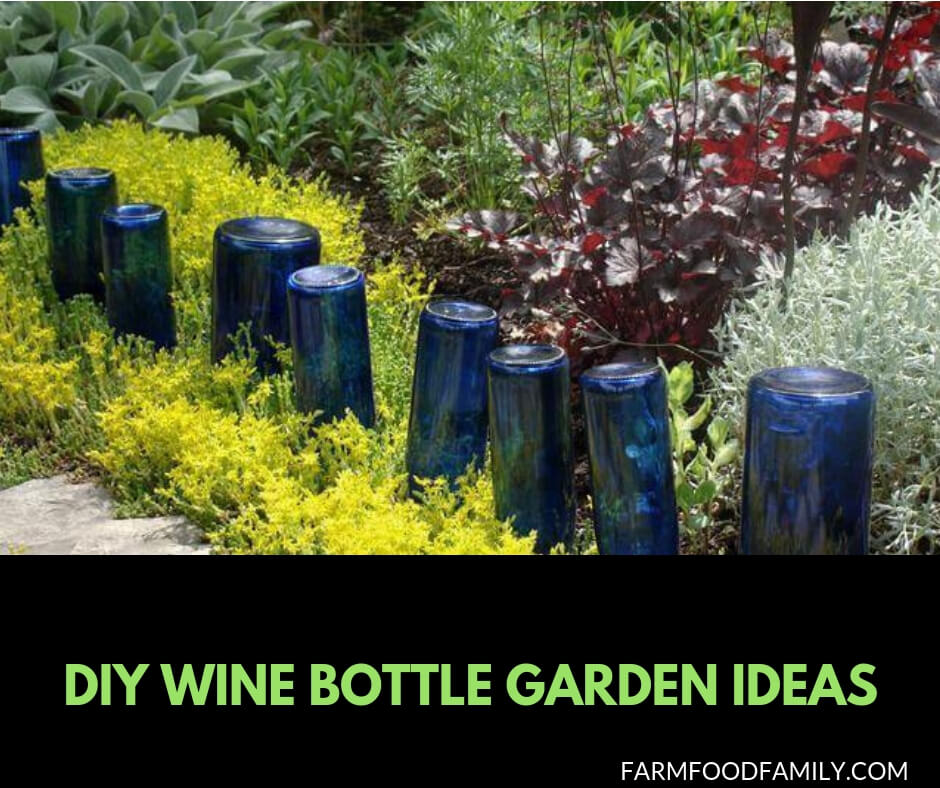 25 Unique Wine Bottle Craft Ideas For Your Garden