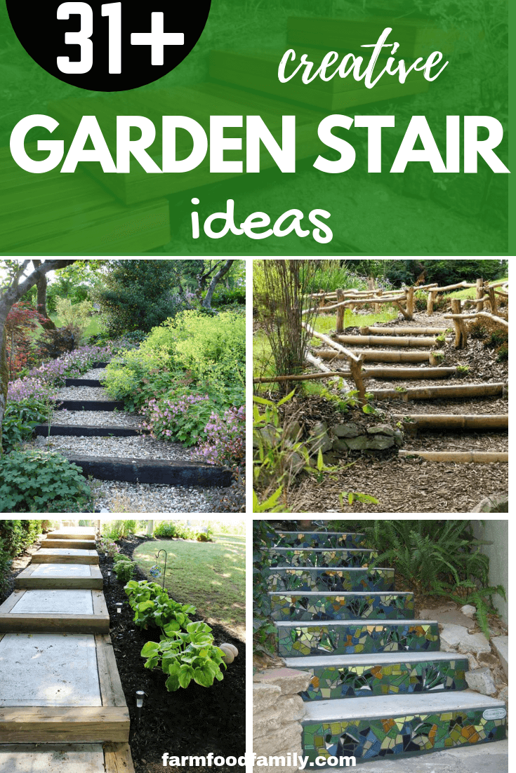 21+ Creative Garden Step and Stair Ideas