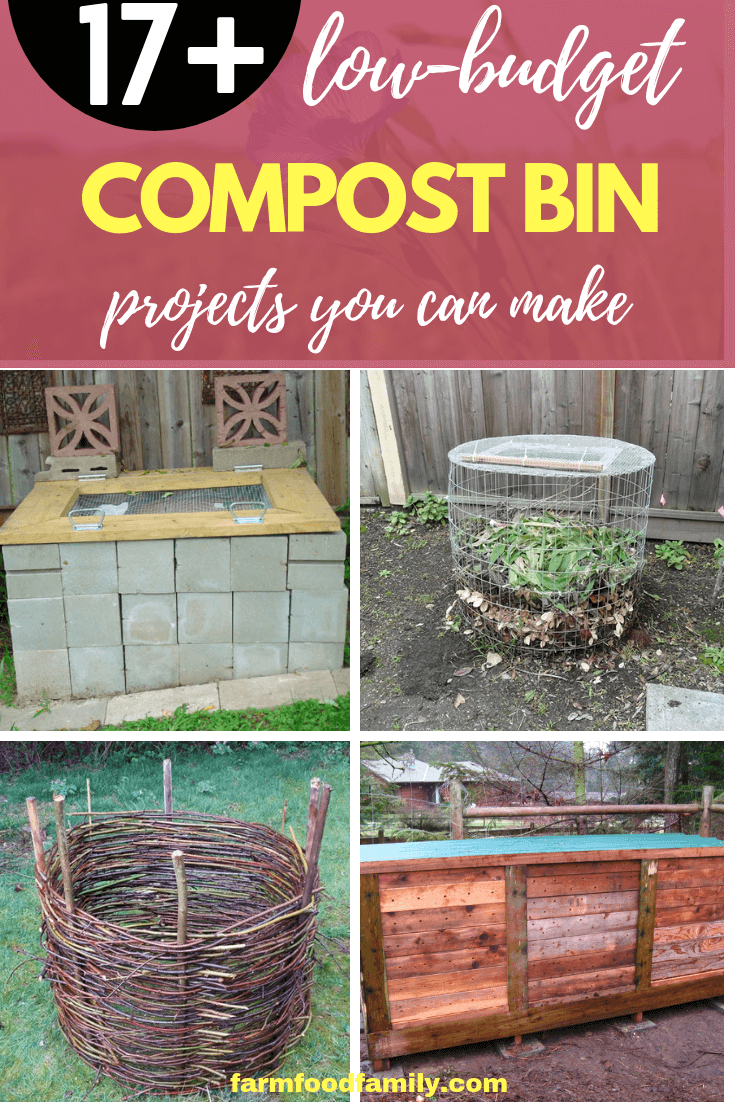 17+ affordable compost bin ideas to make
