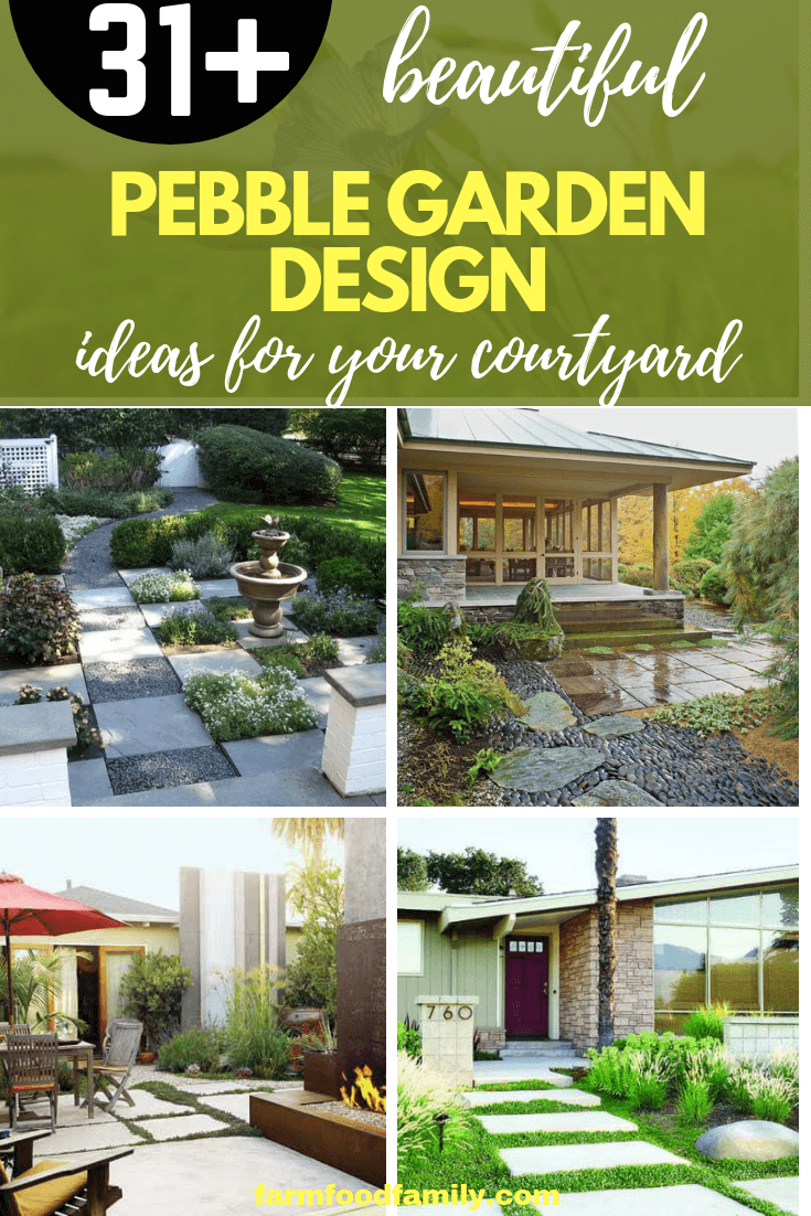 31+ Unique Pebble Garden Design Ideas