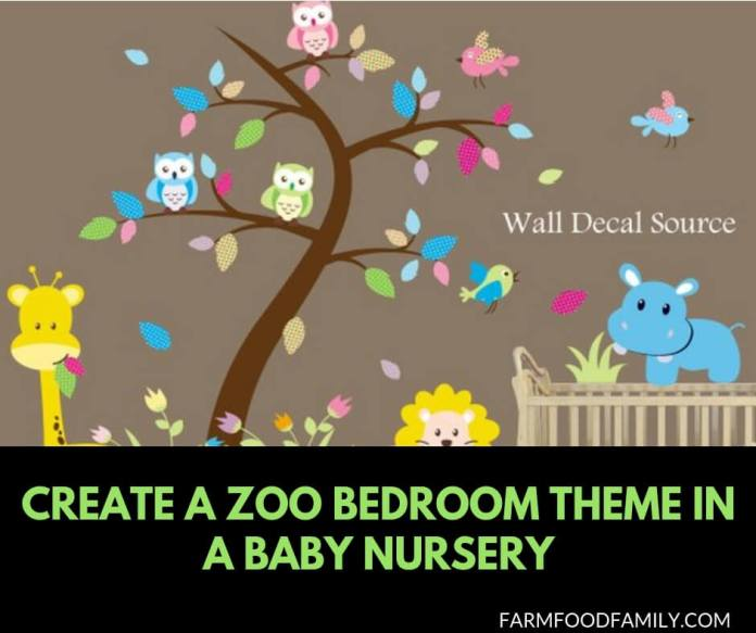 How to create a zoo bedroom theme in a baby nursery
