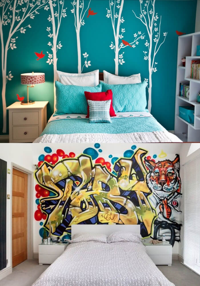 Hit the Wall with Bold Design | Decorating Teen Bedrooms: Transforming a Child's Room with Teenage Décor - FarmFoodFamily.com