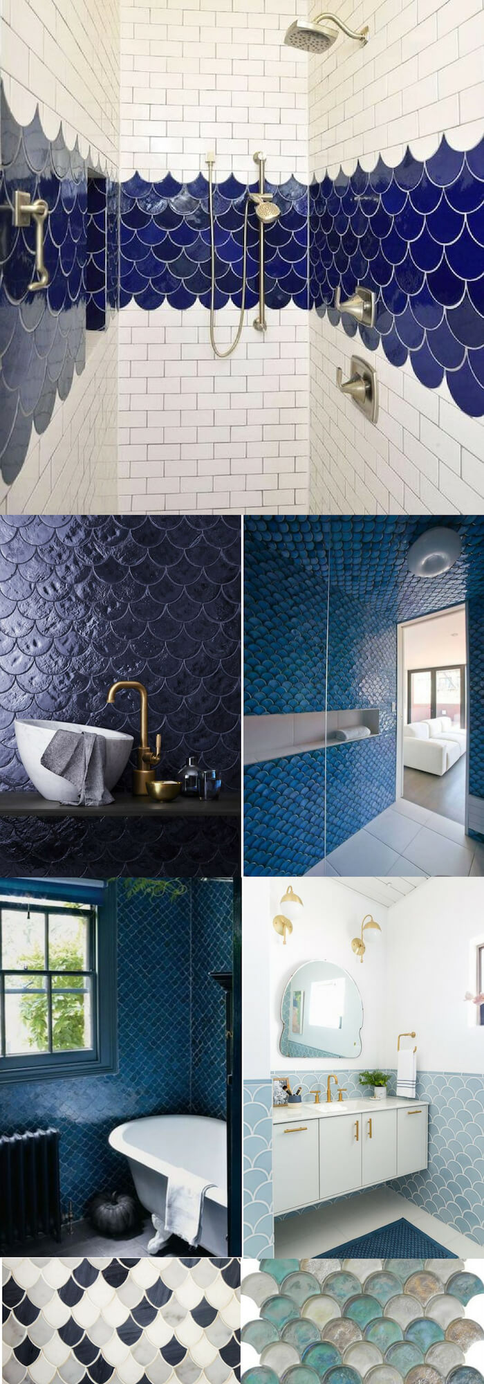 Moroccan fish scales wall | Unique Wall Tile Ideas for Bathroom Design