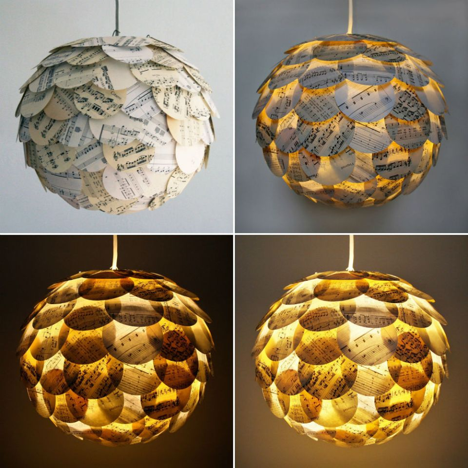 Paper Lamp Shades | Homemade Decorative Lamp Shade Ideas | FarmFoodFamily