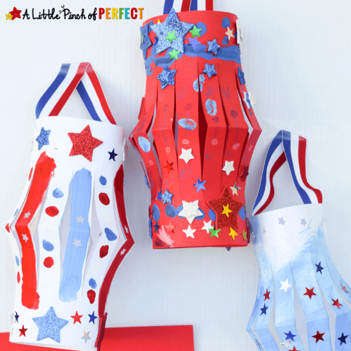 Patriotic Lanters | Simple Ideas for Kids' Crafts for Thanksgiving - FarmFoodFamily.com