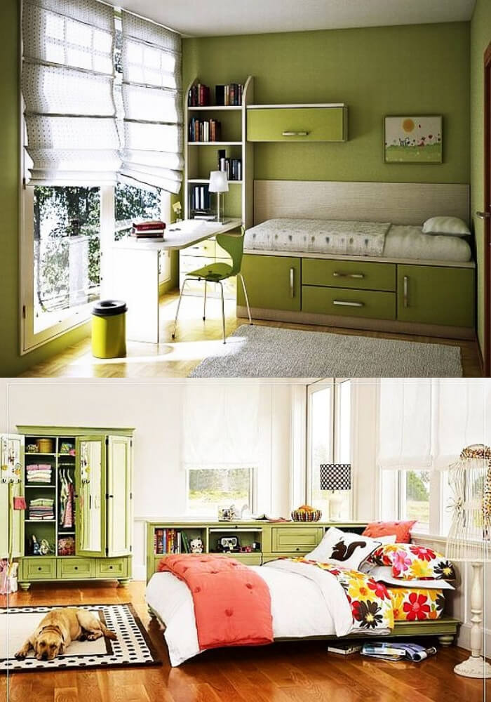 Green teenage girl rooms | Decorating Teen Bedrooms: Transforming a Child's Room with Teenage Décor - FarmFoodFamily.com