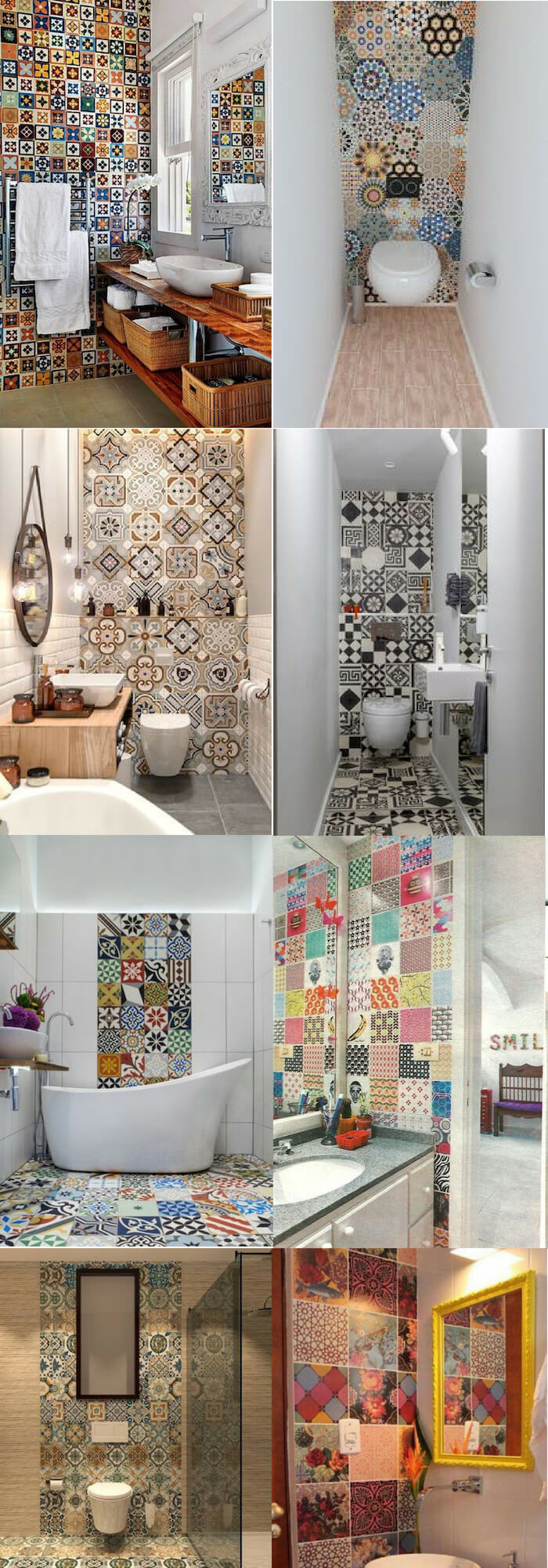 Vintage wall | Unique Wall Tile Ideas for Bathroom Design