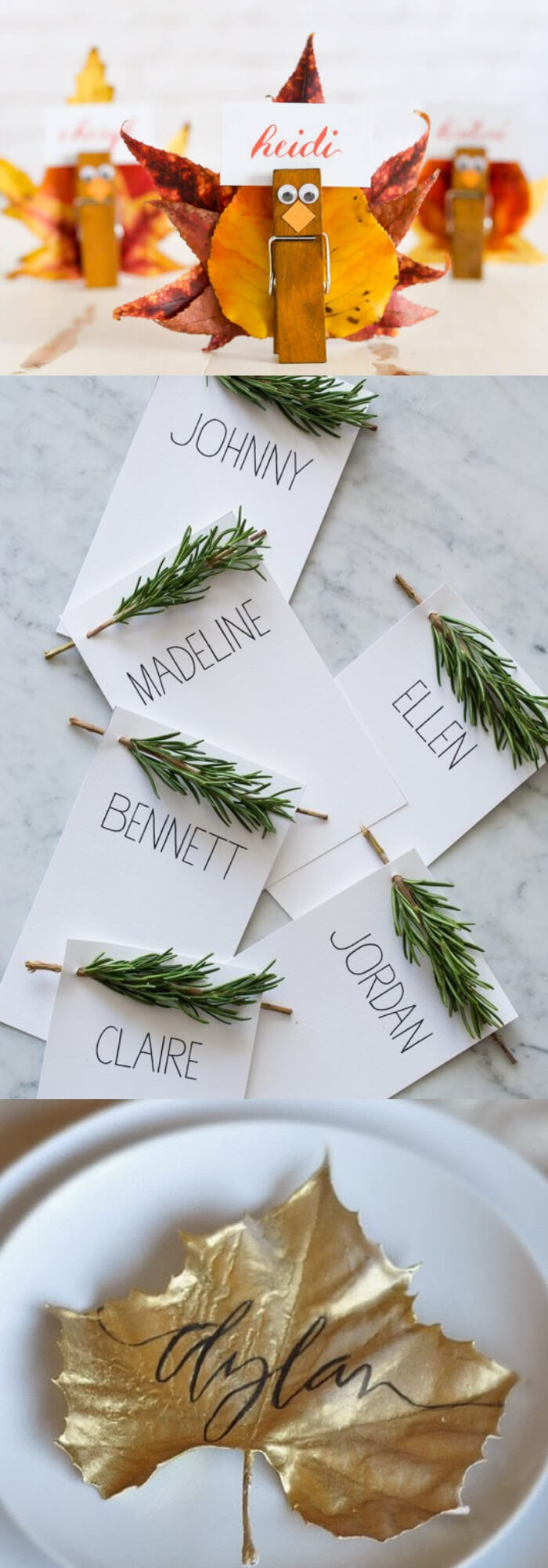 Place card for thanksgiving | Thanksgiving Gifts Kids Can Make - FarmFoodFamily.com