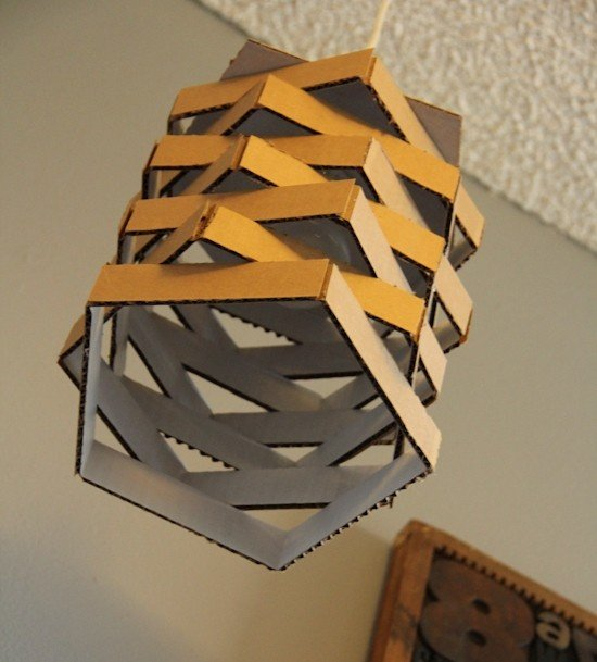 Cardboard lamp shades | Homemade Decorative Lamp Shade Ideas | FarmFoodFamily