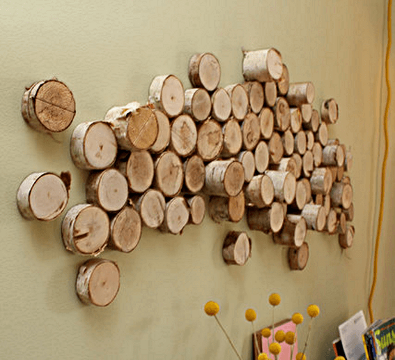 Turn Logs into Affordable Wall Art | DIY Wood Tree Log Decor Ideas - FarmFoodFamily.com