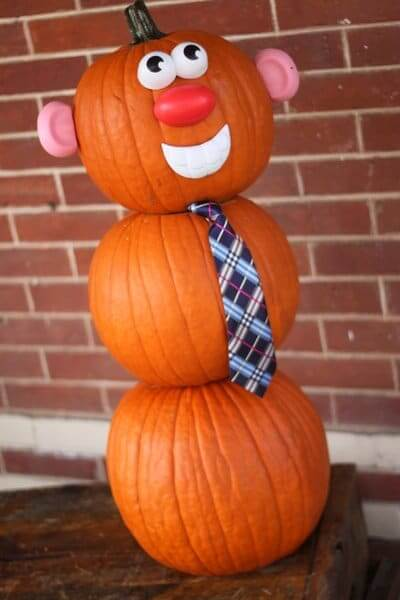 Mr. Pumpkin Man | No-Carve Pumpkin Decorating Ideas For This Halloween