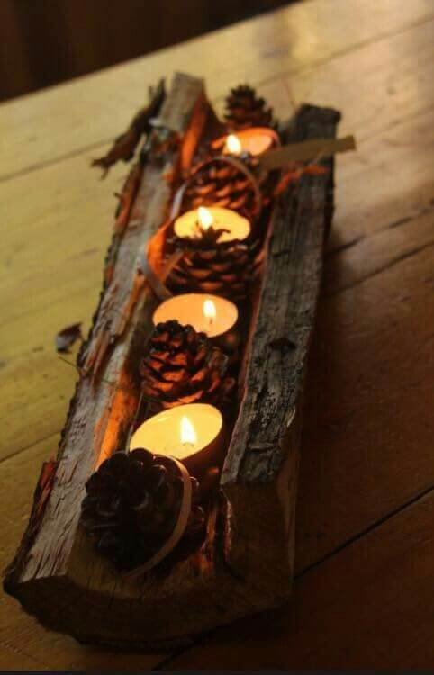 DIY Holiday Decor | DIY Fall Candle Decoration Ideas - Farmfoodfamily.com