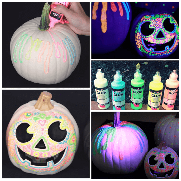 Glow in the Dark Pumpkins | No-Carve Pumpkin Decorating Ideas For This Halloween