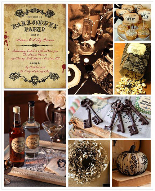 Vintage Halloween Party Inspiration Board | Halloween Party Themes For Adults