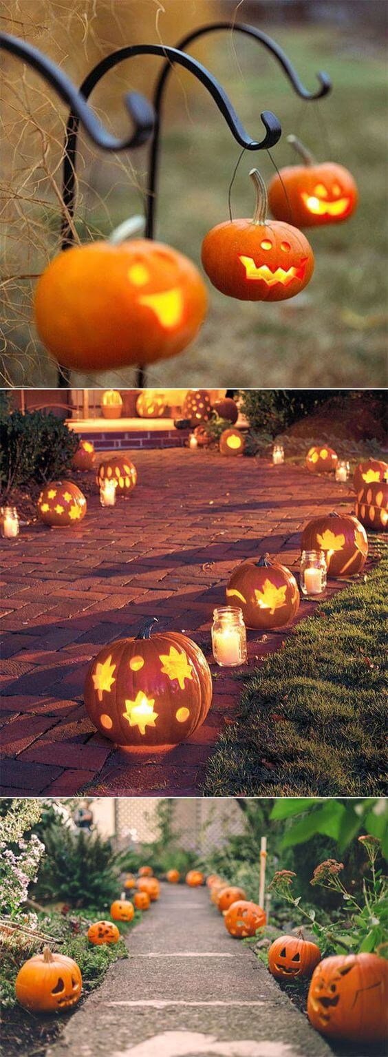 Pumpkin Paved Aisle Decoration for Halloween Wedding | Halloween Wedding Theme Ideas - Farmfoodfamily.com