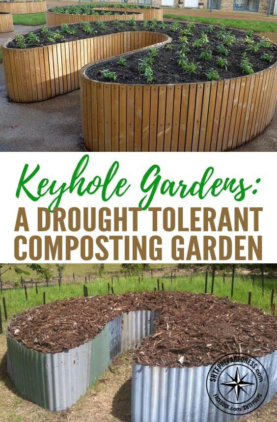 Keyhole garden | How to Build a Raised Vegetable Garden Bed | 39+ Simple & Cheap Raised Vegetable Garden Bed Ideas - farmfoodfamily.com