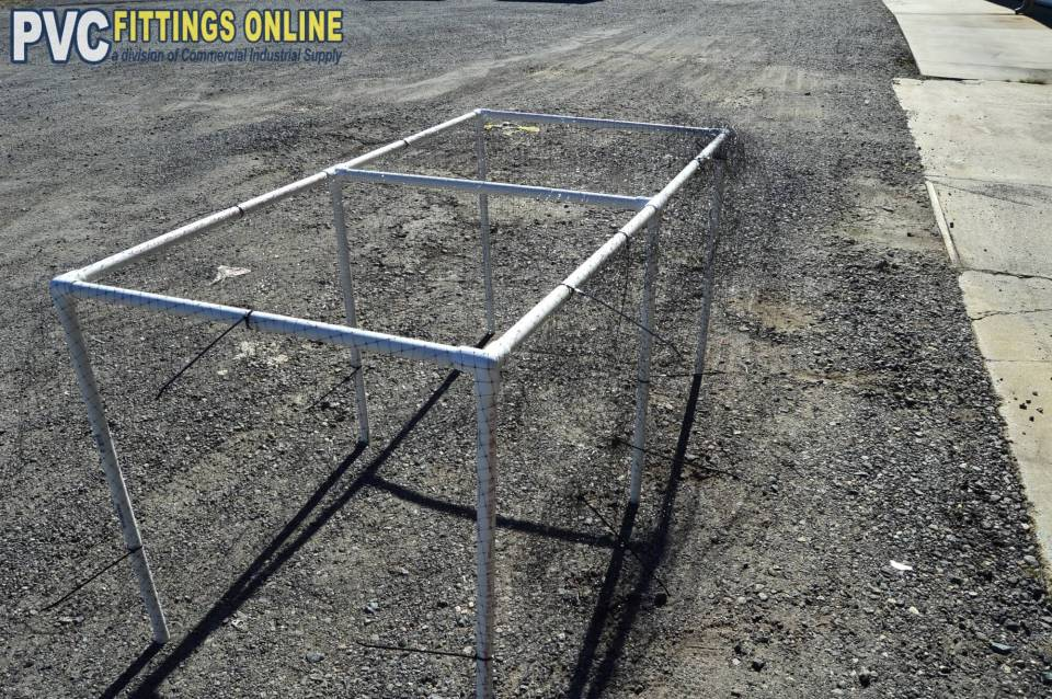 Finished frame | How to Build a PVC Pipe Garden Cover