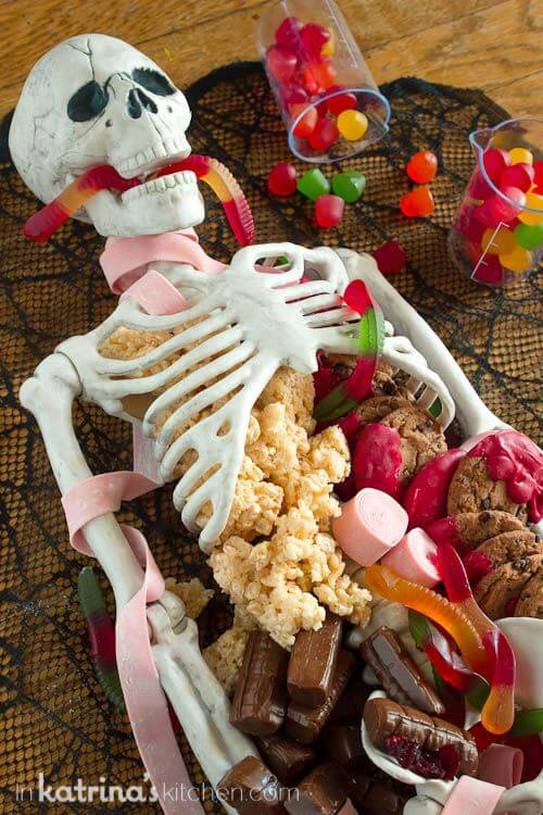 Halloween Dessert Table Skeleton | Halloween Party Themes For Adults