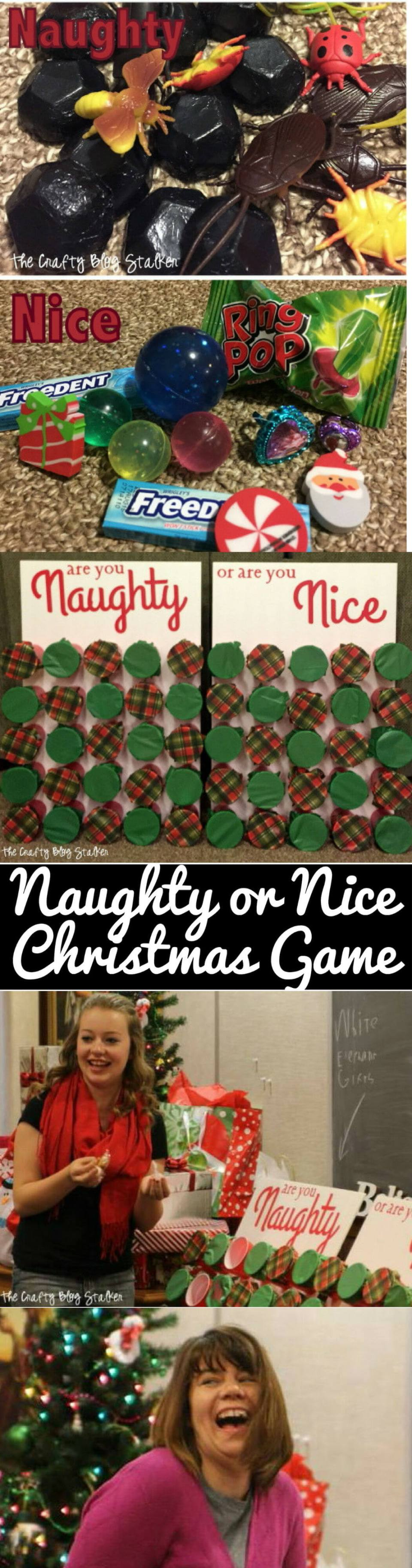 Naughty or Nice Christmas Game | Christmas Party Games for Adults - FarmFoodFamily.com