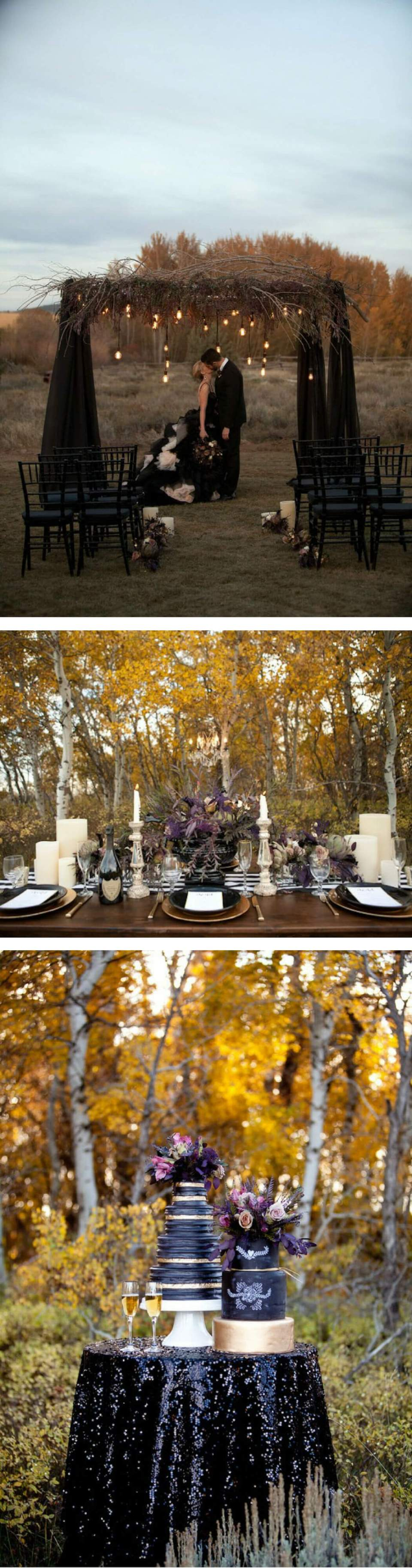 Spring Shores Lodge Idaho Styled Wedding Shoot | Halloween Wedding Theme Ideas - Farmfoodfamily.com