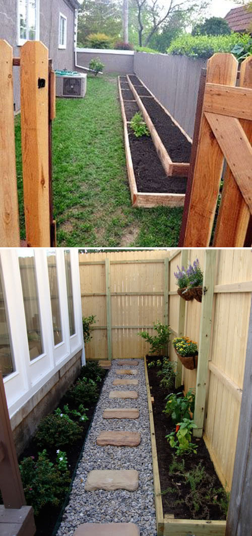 Wooden raised bed a long the yard | How to Build a Raised Vegetable Garden Bed | 39+ Simple & Cheap Raised Vegetable Garden Bed Ideas - farmfoodfamily.com