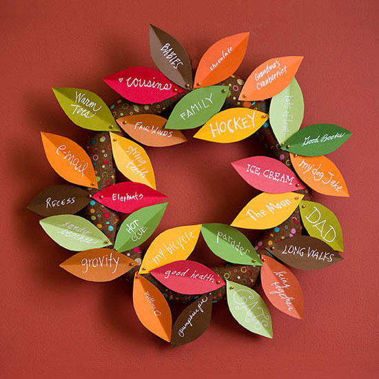 Thanksgiving Wreath   Thanksgiving Gifts Kids Can Make - FarmFoodFamily.com