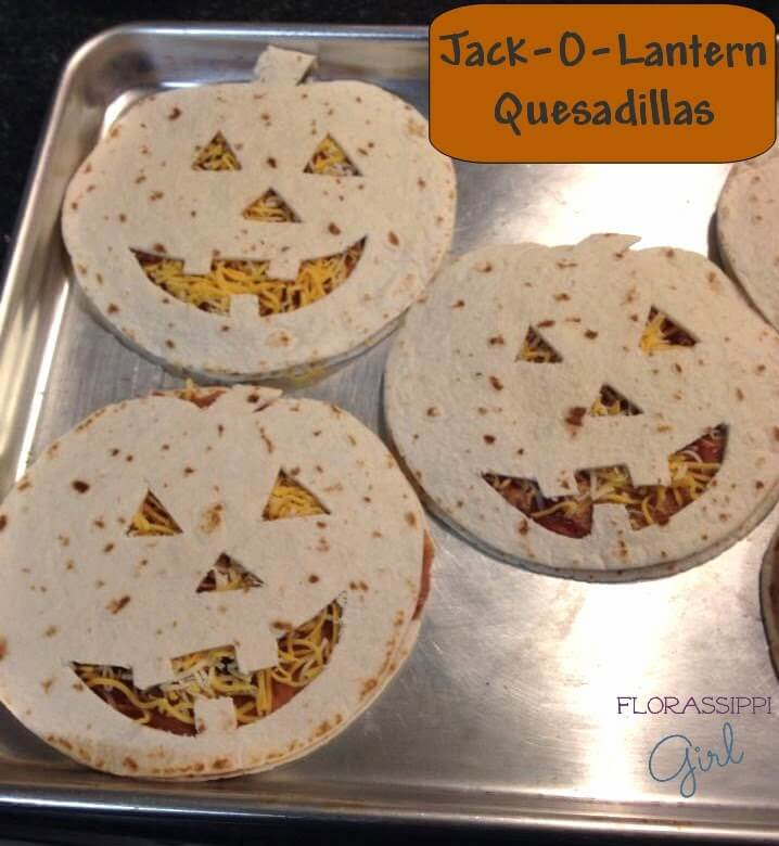 Jack-O-Lantern Quesadillas | Halloween Inspired Recipes: How to Make Simple Halloween Party Food