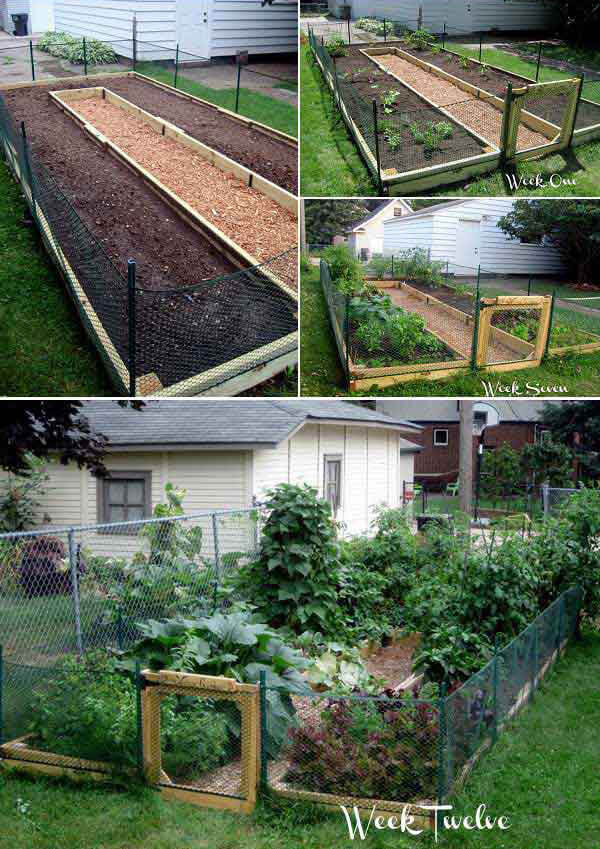 U-shaped garden bed | How to Build a Raised Vegetable Garden Bed | 39+ Simple & Cheap Raised Vegetable Garden Bed Ideas - farmfoodfamily.com