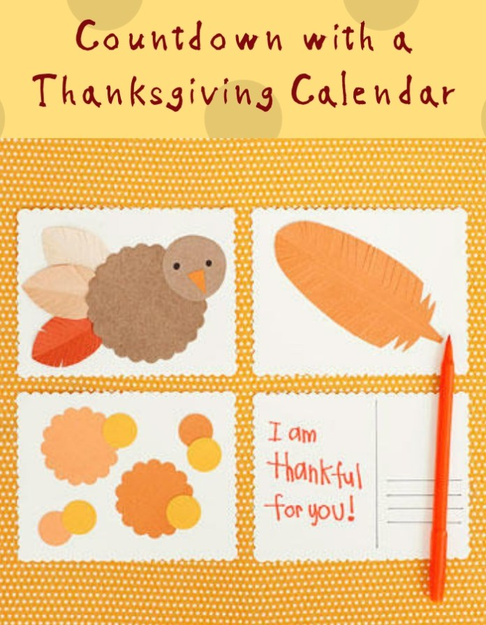 Countdown with a Thanksgiving Calendar | Simple Ideas for Kids' Crafts for Thanksgiving - FarmFoodFamily.com