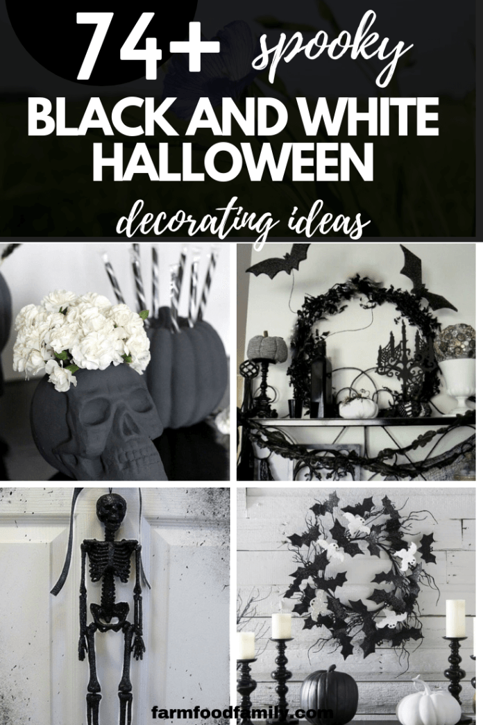 Black and White Halloween Decorations: Dramatic Holiday Looks for Outside or Inside the Home